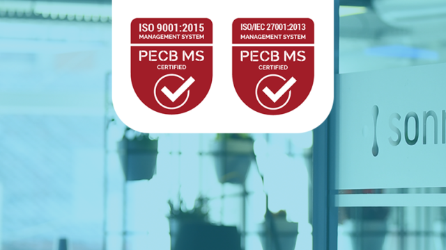 Sonnecto becomes ISO 9001:2015 and ISO/IEC 27001:2013 certified!